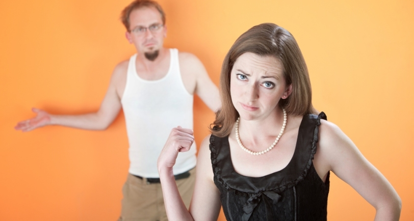 Beautiful Caucasian girlfriend or wife upset with her boyfriend